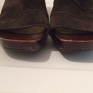 a.n.a Shoes - A.N.A brown suede wedge heels open toed size 8